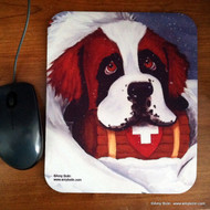 MOUSE PAD ·  BREAK TIME  · SAINT BERNARD · AMY BOLIN