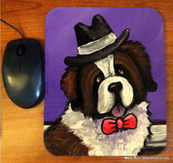MOUSE PAD · DAPPER DOG · SAINT BERNARD · AMY BOLIN
