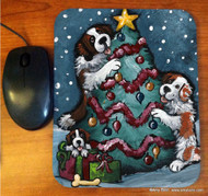 MOUSE PAD · CHRISTMAS TOGETHER · SAINT BERNARD · AMY BOLIN