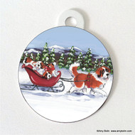 DOUBLE SIDED PET ID TAG · A WINTRY RIDE · SAINT BERNARD · AMY BOLIN