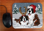 MOUSE PAD · CHRISTMAS BUDDIES · SAINT BERNARD · AMY BOLIN
