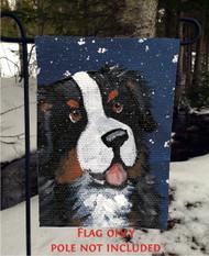 GARDEN FLAG · COUNTING SNOWFLAKES · BERNESE MOUNTAIN DOG · AMY BOLIN
