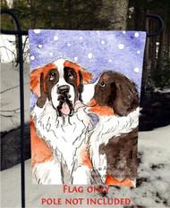 GARDEN FLAG · LITTLE KISS · BERNESE MOUNTAIN DOG, SAINT BERNARD · AMY BOLIN