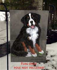 GARDEN FLAG · MERLIN · BERNESE MOUNTAIN DOG · AMY BOLIN