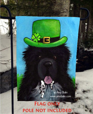 GARDEN FLAG · A BIG, WET IRISH KISS · IRISH SPOTTED NEWFOUNDLAND · AMY BOLIN