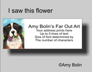 """I Saw This Flower"" Bernese Mountain Dog Address Labels"