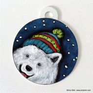 DOUBLE SIDED PET ID TAG · SNOWY WEATHER · SAMOYED · AMY BOLIN