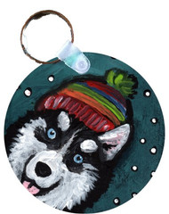 KEY CHAIN · SNOWY WEATHER · SIBERIAN HUSKY · AMY BOLIN