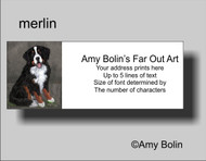 """Merlin"" Bernese Mountain Dog Address Labels"