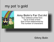 """My Pot O' Gold"" Bernese Mountain Dog, Golden Retriever Address Labels"