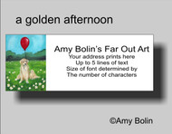 ADDRESS LABELS · A GOLDEN AFTERNOON · GOLDEN RETRIEVER · AMY BOLIN