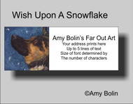ADDRESS LABELS · WISH UPON A SNOWFLAKE · GERMAN SHEPHERD · AMY BOLIN