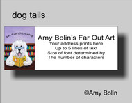 ADDRESS LABELS · DOG TAILS VOL 2 · GREAT PYRENEES · AMY BOLIN