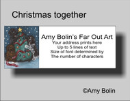 ADDRESS LABELS · CHRISTMAS TOGETHER · BLACK, BROWN, LANDSEER NEWFOUNDLAND · AMY BOLIN