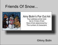 """Friends Of Snow Need Love To Grow"" Bernese Mountain Dog, Golden Retriever Address Labels"
