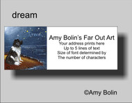 ADDRESS LABELS · DREAM · LANDSEER NEWFOUNDLAND · AMY BOLIN