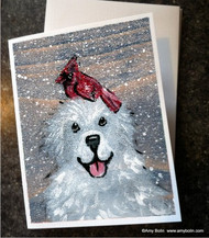 NOTE CARDS · WINTER BUDDIES · GREAT PYRENEES & CARDINAL · AMY BOLIN