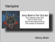 ADDRESS LABELS · VAMPIRE · NORWEGIAN ELKHOUND · AMY BOLIN