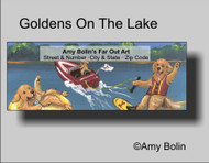 ADDRESS LABELS · GOLDENS ON THE LAKE · GOLDEN RETRIEVER · AMY BOLIN