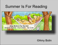 ADDRESS LABELS · SUMMER IS FOR READING · GOLDEN RETRIEVER · AMY BOLIN