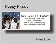 """Puppy Kisses"" Bernese Mountain Dog, Saint Bernard Address Labels"