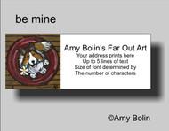 ADDRESS LABELS · BE MINE · SABLE SHELTIE · AMY BOLIN