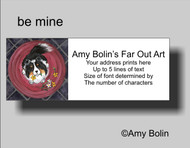 ADDRESS LABELS · BE MINE · TRI COLOR SHELTIE · AMY BOLIN
