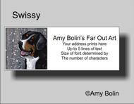 ADDRESS LABELS · SWISSY · GREATER SWISS MOUNTAIN DOG · AMY BOLIN