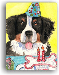 MAGNET · HAPPY BIRTHDAY TO YOU · BERNESE MOUNTAIN DOG · AMY BOLIN