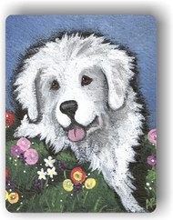 MAGNET · MOM'S FAVORITE FLOWER  · GREAT PYRENEES · AMY BOLIN