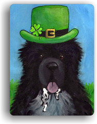 MAGNET · A BIG, WET IRISH KISS · IRISH SPOTTED NEWFOUNDLAND · AMY BOLIN