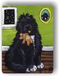 MAGNET · BEDTIME BUDDIES · IRISH SPOTTED NEWFOUNDLAND · AMY BOLIN
