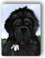 MAGNET · I SAW THIS FLOWER & THOUGHT OF YOU · BLACK  NEWFOUNDLAND · AMY BOLIN