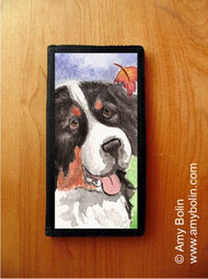 CHECKBOOK COVER · AUTUMN BERNER · BERNESE MOUNTAIN DOG · AMY BOLIN