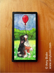 CHECKBOOK COVER · FLY AWAY · BERNESE MOUNTAIN DOG · AMY BOLIN
