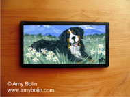 CHECKBOOK COVER · MOUNTAIN HOME · BERNESE MOUNTAIN DOG · AMY BOLIN