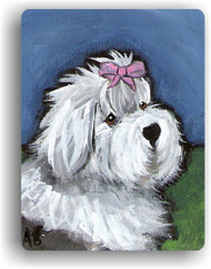 MAGNET · ALL GUSSIED UP · OLD ENGLISH SHEEPDOG  · AMY BOLIN