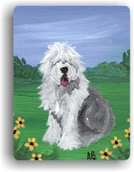 MAGNET · SUMMER   · OLD ENGLISH SHEEPDOG  · AMY BOLIN