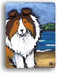 MAGNET · DAY AT THE BEACH · SABLE SHELTIE · AMY BOLIN