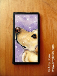 CHECKBOOK COVER · WISH UPON A SNOWFLAKE · YELLOW LABRADOR RETRIEVER · AMY BOLIN
