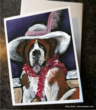 NOTE CARDS · ALL DRESSED UP WITH NOWHERE TO GO · SAINT BERNARD · AMY BOLIN