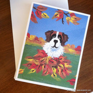 NOTE CARDS · AUTUMN'S SIMPLE PLEASURES 3 · SAINT BERNARD · AMY BOLIN