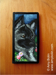 CHECKBOOK COVER · MOM'S FAVORITE FLOWER · NORWEGIAN ELKHOUND · AMY BOLIN