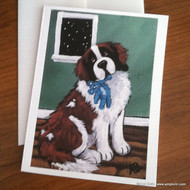 NOTE CARDS · BEDTIME BUDDIES · SAINT BERNARD · AMY BOLIN