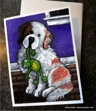 NOTE CARDS · BEDTIME BUDDIES · HALF MASK SAINT BERNARD · AMY BOLIN