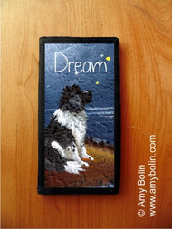 CHECKBOOK COVER · DREAM · LANDSEER NEWFOUNDLAND · AMY BOLIN