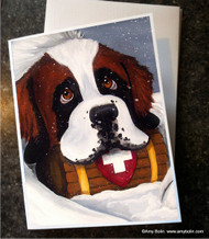 NOTE CARDS · BREAK TIME · SAINT BERNARD · AMY BOLIN