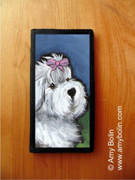 CHECKBOOK COVER · ALL GUSSIED UP · OLD ENGLISH SHEEPDOG · AMY BOLIN