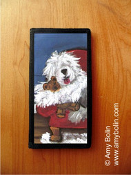 CHECKBOOK COVER · JUST ME & TED · OLD ENGLISH SHEEPDOG · AMY BOLIN