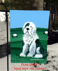 GARDEN FLAG · SHEEP DOG · OLD ENGLISH SHEEPDOG · AMY BOLIN